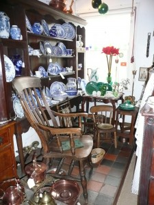 19thcountry furniture and blue and white ceramics in Megarrys
