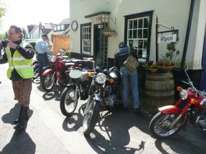 Tea shop for motorcyclists